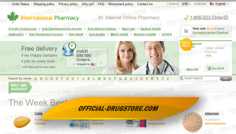 Official-drugstore.comReview - Serving Customers Without Asking for a Prescription