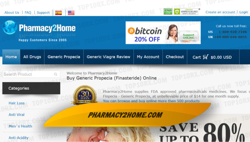 Pharmacy2Home.com Review– Generic Propecia Seller Since 2005