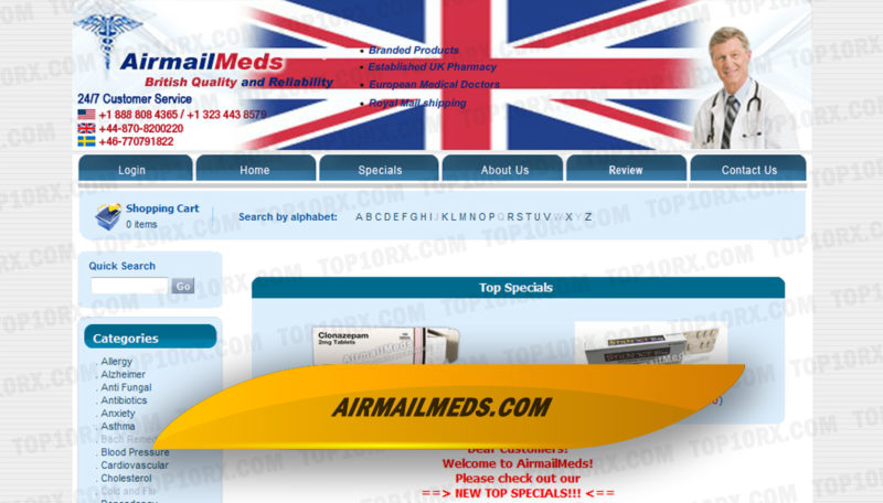 Airmailmeds.com Review– Not Much Information for this Shop Online