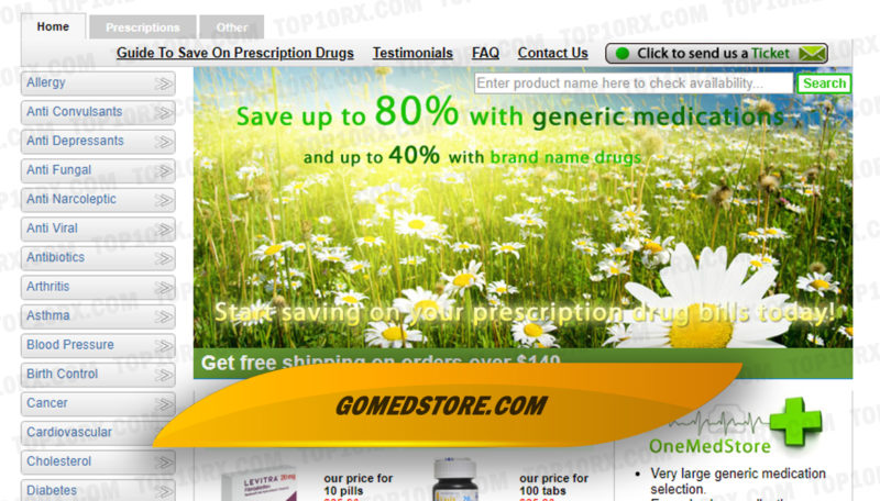 Gomedstore.com Review - Internet Pharmacy with On-Site Doctors Closed in 2017