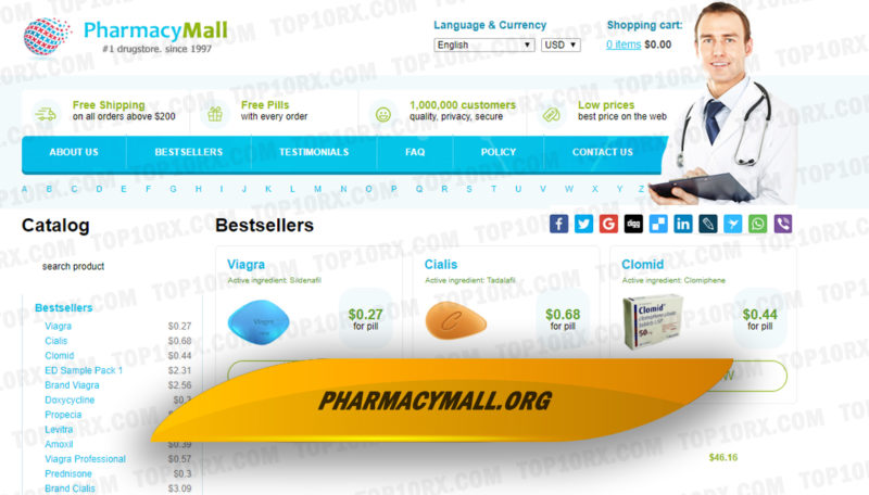 Pharmacymall.org Review– One of the Longest-Running e-Stores in the Online Biz