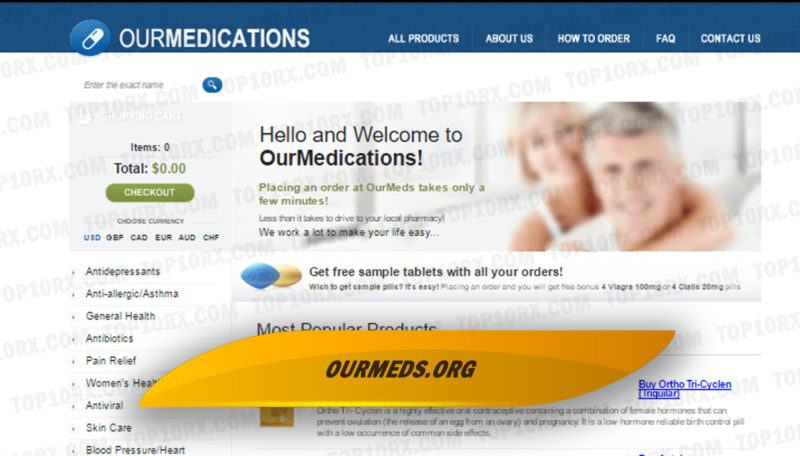 Ourmeds.org Review – A Seized Pharmacy with a High Likelihood of Having Been Unapproved