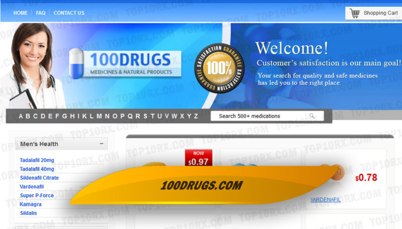 100drugs.com Review - An Online Pharmacy Yet to Gain our Trust