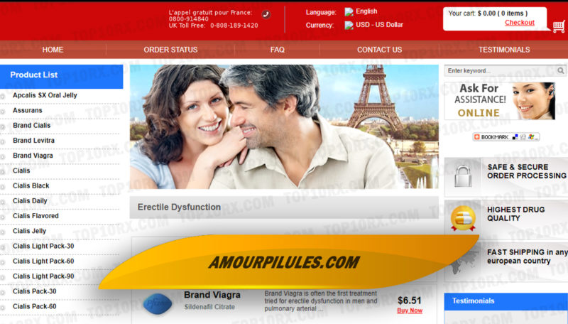 Amourpilules.com Review - Where Different Brands of ED Were Available