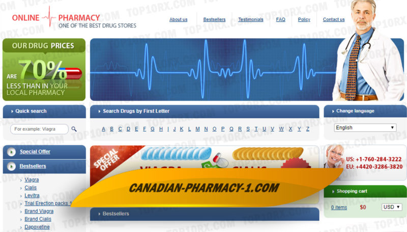 Canadian-pharmacy-1.com Review - Canada's Supplier of Generic and Branded Medicines