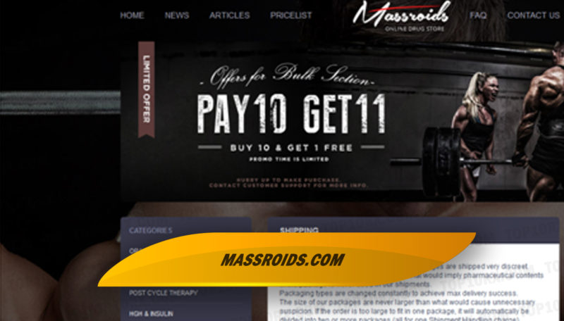 Massroids.com Review - Online Drugstore for Popular Steroids and Men's Health Meds