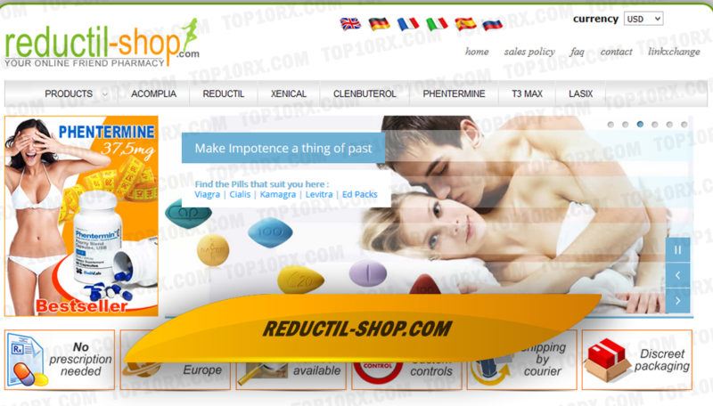Reductil-shop.com Review - Drugshop Not Shipping to the US