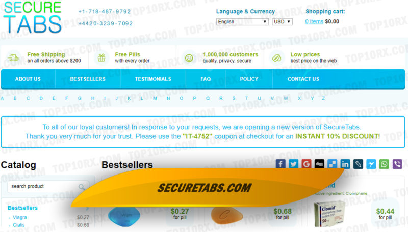 Securetabs.com Review: Popular Canadian Source of Hybrid Erectile Dysfunction Brands Is Closed