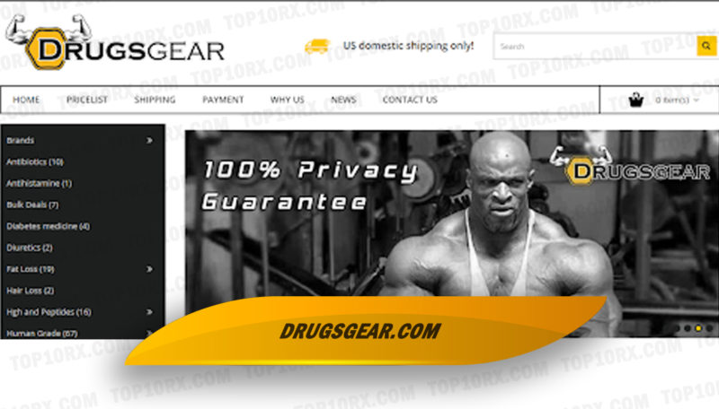 Drugsgear.com Review: US' Provider of Anabolic and ED Drugs