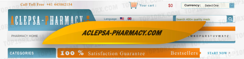 Aclepsa-pharmacy.com Review – The Pharmacy Site with No User Reviews Now Closed