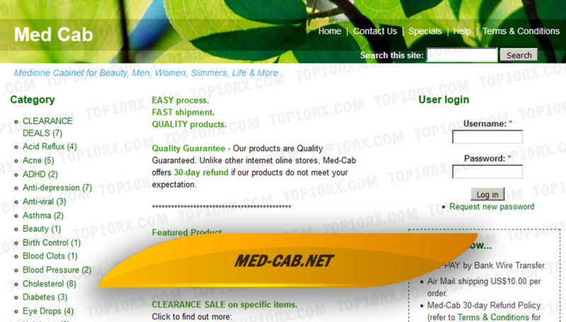 Med-cab.net Review - Unverified Online Pharmacy with no Reviews