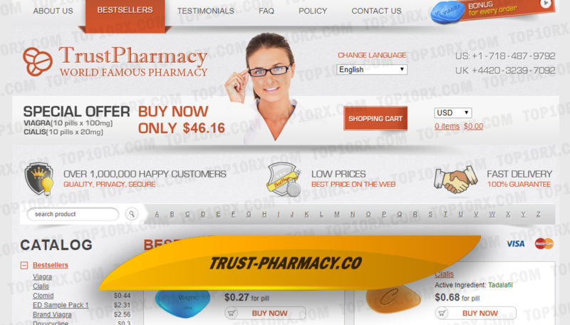 Trust-pharmacy.co Review – One Long-Running Store with Absent 3rd Party Reviews
