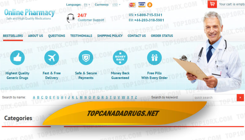 Topcanadadrugs.net Review - A Vendor with Low Prices