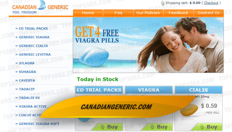 Canadiangeneric.com Review – Canada-Based Generic Impotence Drug Selling Store