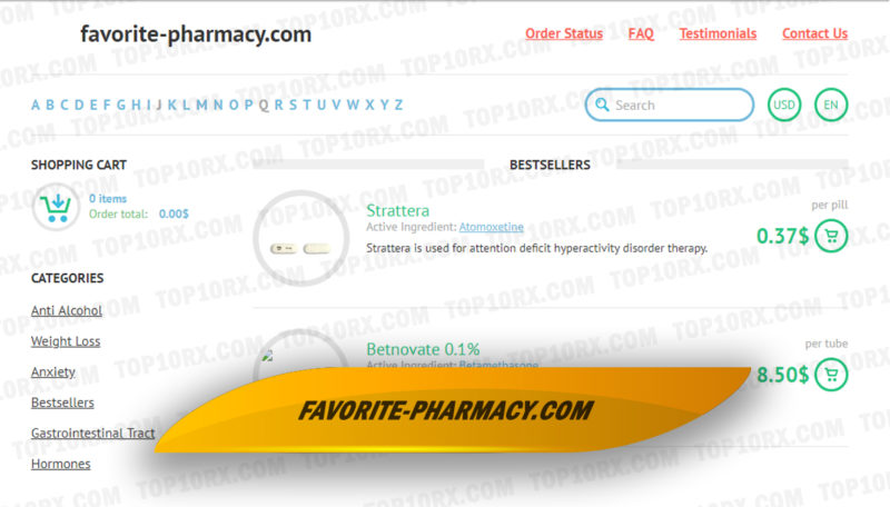 Favorite-pharmacy.com Review – Disappeared for Unknown Reasons