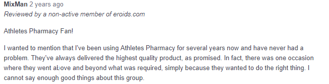 Athletespharmacy net Reviews – A Potentially Great Steroid