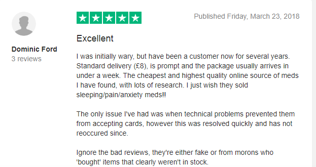 United Pharmacies Customer Review